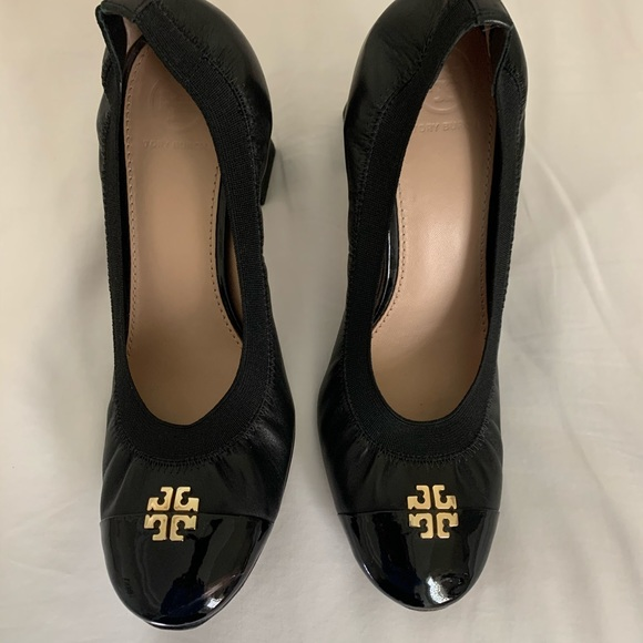 Tory Burch Shoes - Tory Burch heals 8.5 gently used black patent